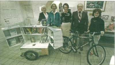 Tony Odierna Donates Book Bike